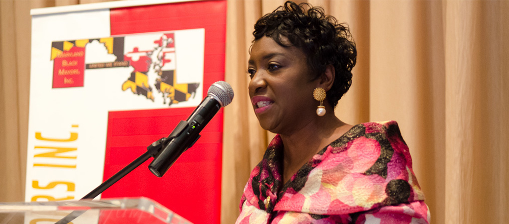 Mrs. Coleman receives the Community Leadership Award from the Maryland Black Mayors Inc. (MBM)