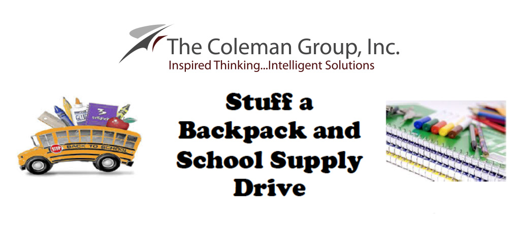 Stuff a backpack and school supply drive
