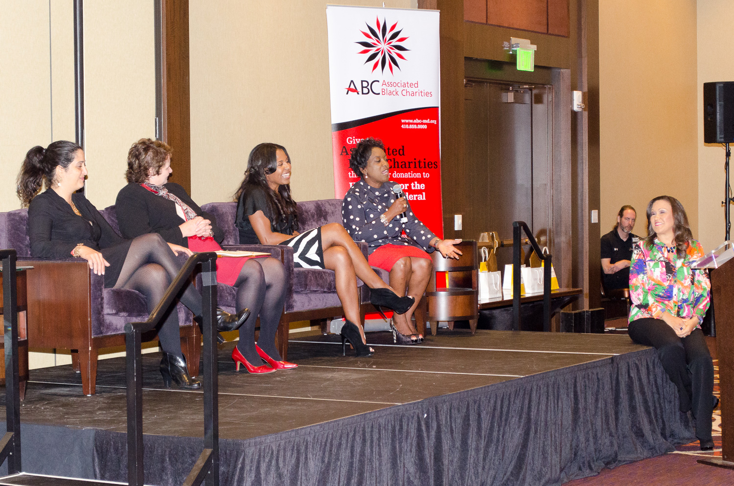 Speakers at the Women on the Move event
